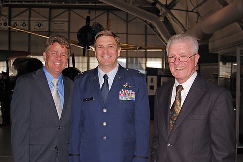Howard Miller, Lt. Col Jeff Miller and John Miller