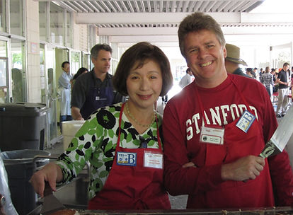 Cynthia Chang and Howard Miller at SMB Pancake Breakfast