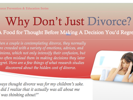 Why Don't Just Divorce?