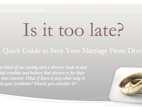 Divorce Prevention: Is It Too Late?