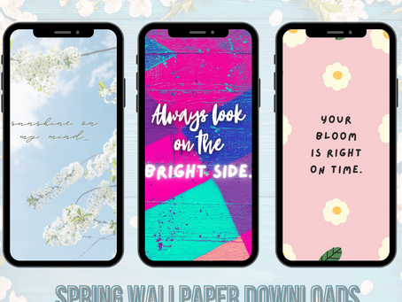 Spring Quote Phone Wallpaper