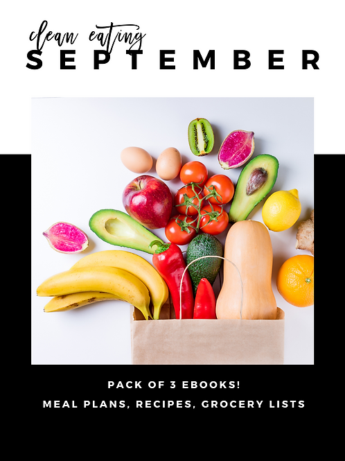 September Clean Eating Guides