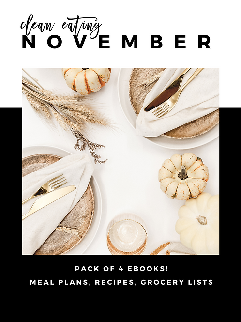 November Clean Eating Guides