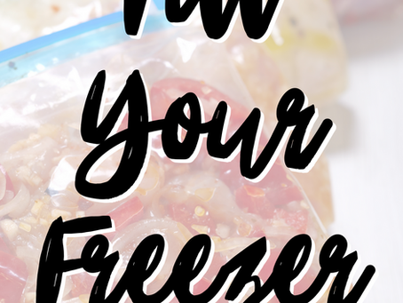 Fill Your Freezer Recipes