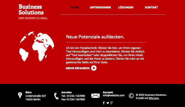 Beratung & Coaching website templates – Strategisches Management