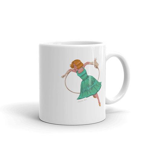 Aerial Hoop White glossy mug