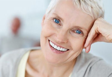Woman with Complete Dentures