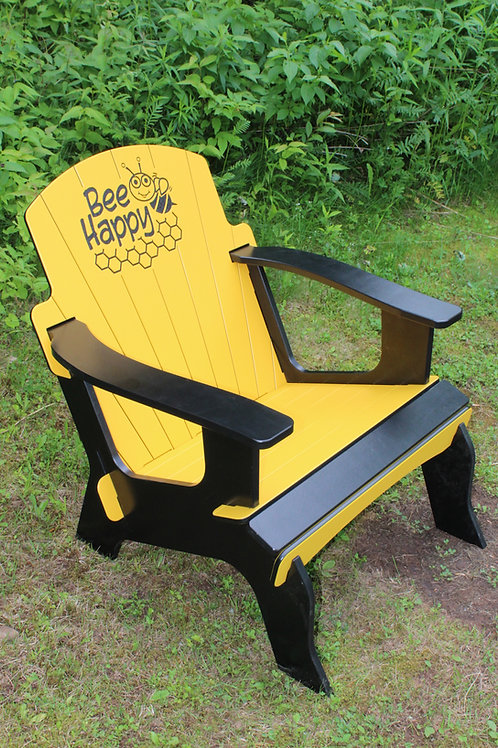 """BEE HAPPY"" #5 ADIRONDACK CHAIR"