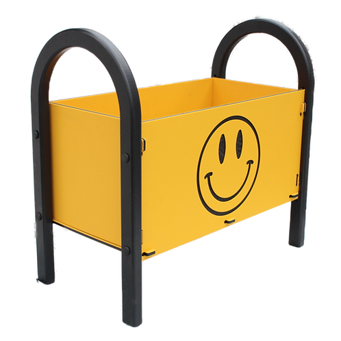 Custom 18 inch flower box with Smiley Face