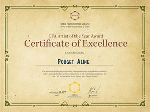 ArtistOfTheYear-Certificate Pouget Aline