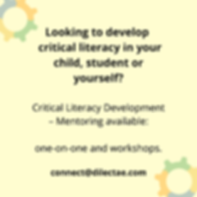 Critical Literacy Development Mentoring