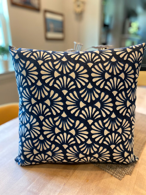 Turquoise wave outdoor pillow cover