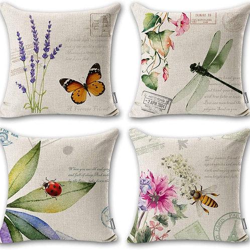 Set of 4 Botanical Indoor Pillows