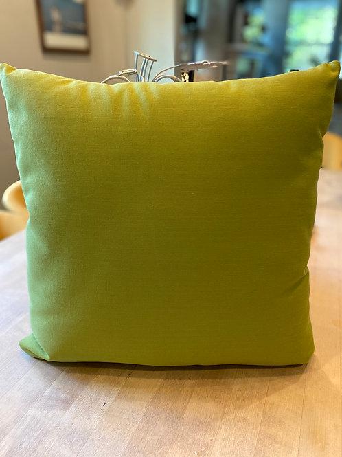 Avocado green outdoor pillow
