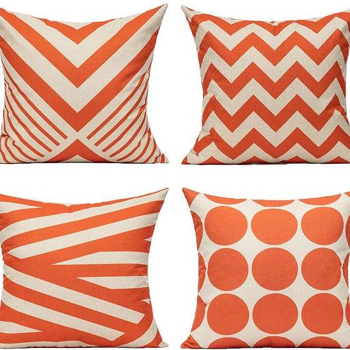 Set of 4 Geometric Pillows Multiple Colors