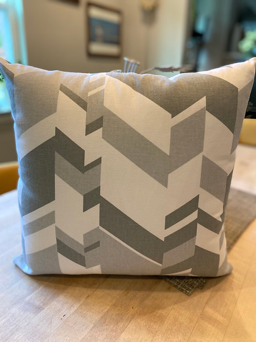 Geometric grey outdoor pillow cover