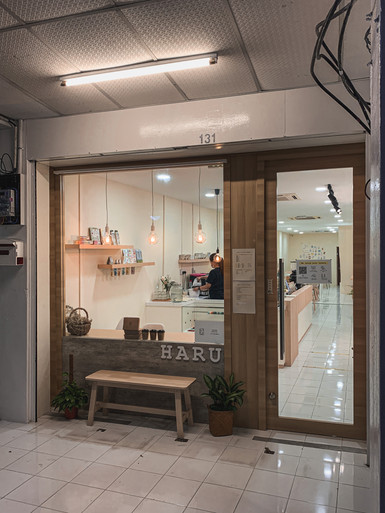 Haru Staionery Cafe minimalistic facade, Penang | RollingBear Travels.