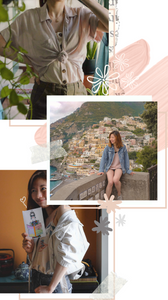 Fashion collage styling camisoles with denim jackets and shirts, RollingBear Travels blog.
