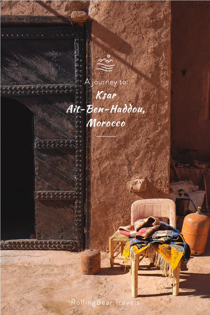 Pinterest travel pin: A journey to Ksar Ait-Ben-Haddou, Morocco | RollingBear Travels