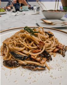 Food photography: Buldak pasta, 815 Paliro food menu | RollingBear Travels.