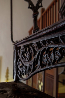 Seven Terraces Hotel room: Wrought-Iron stair detail / RollingBear Travels