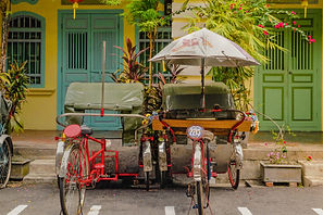 red-trishaw-white-umbrella-green-tarp-bl