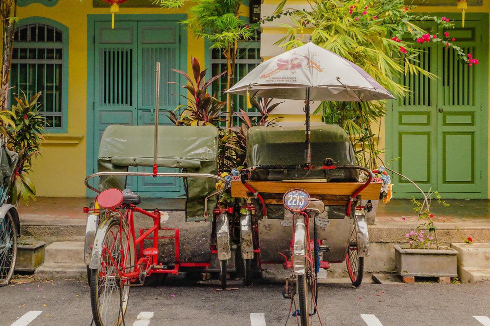red-trishaw-white-umbrella-green-tarp-bl
