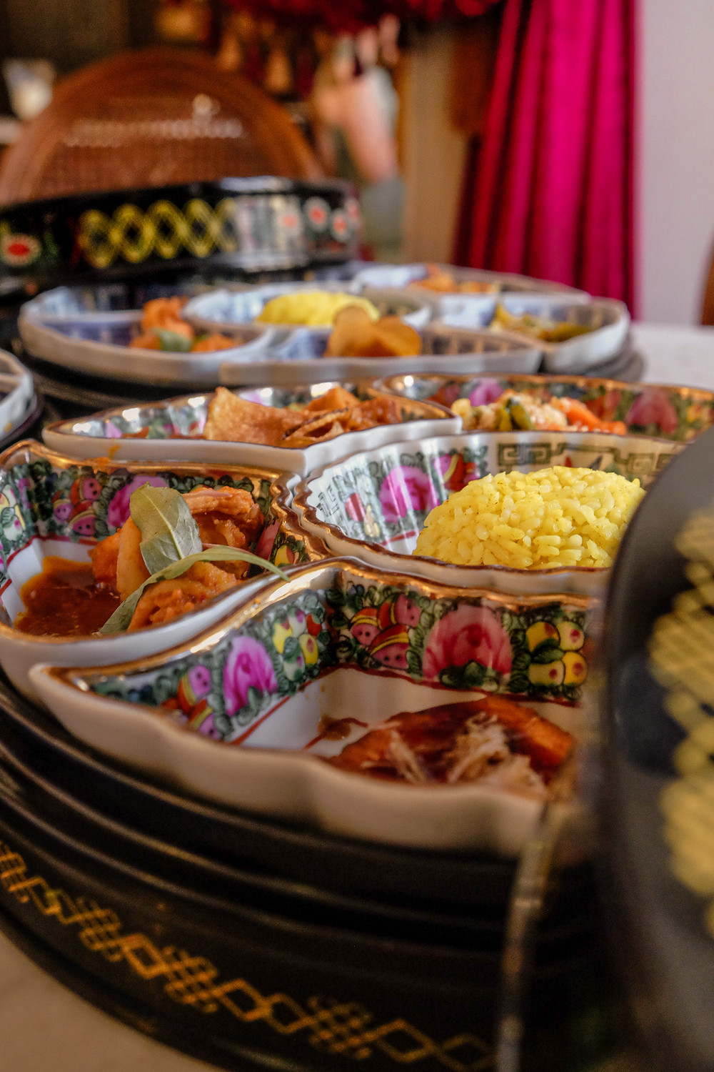 Kebaya Dining Room Nyonya food platter, food photography by RollingBear Travels.