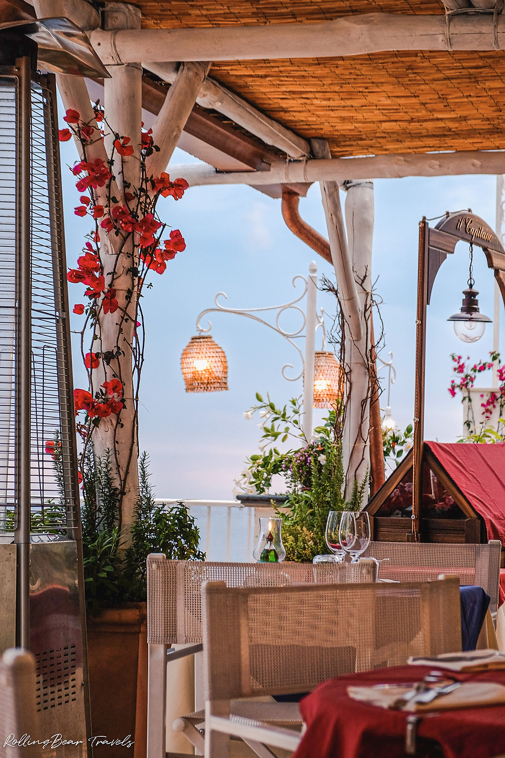 il Capitano restaurant review, Positano | RollingBear Travels.