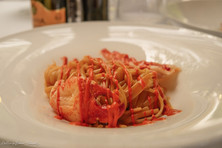 Al Palazzo restaurant food photography: Lobster tagliatelle | RollingBear Travels.