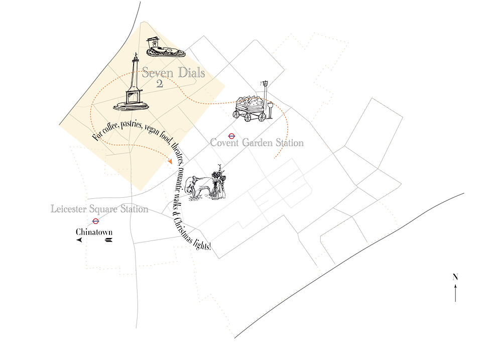 Covent Garden illustration map | RollingBear Travels