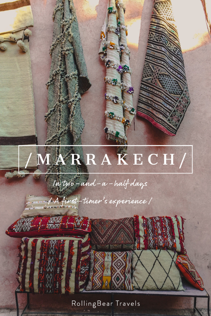 Marrakech: A first-timer's itinerary pin | RollingBear Travels