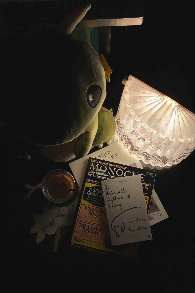 Lifestyle Photography of books and lamp in a dark room | RollingBear Travels