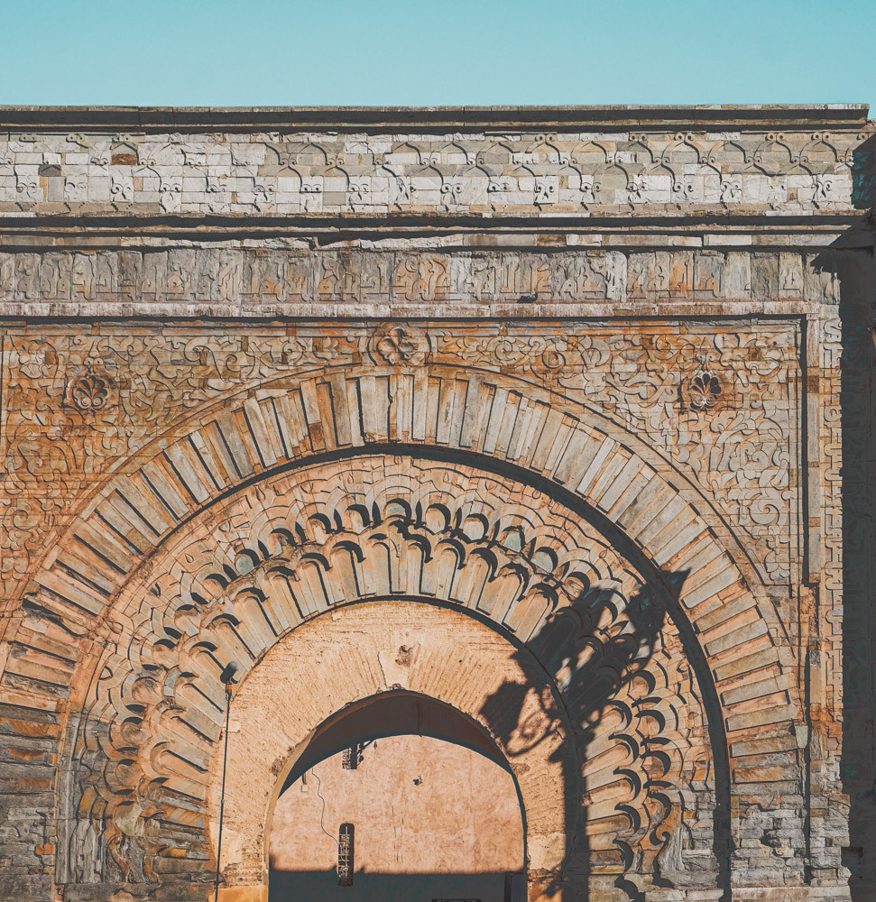 Intricate Moroccan architectural details of the Bab Agnaou gateway | RollingBear Travels