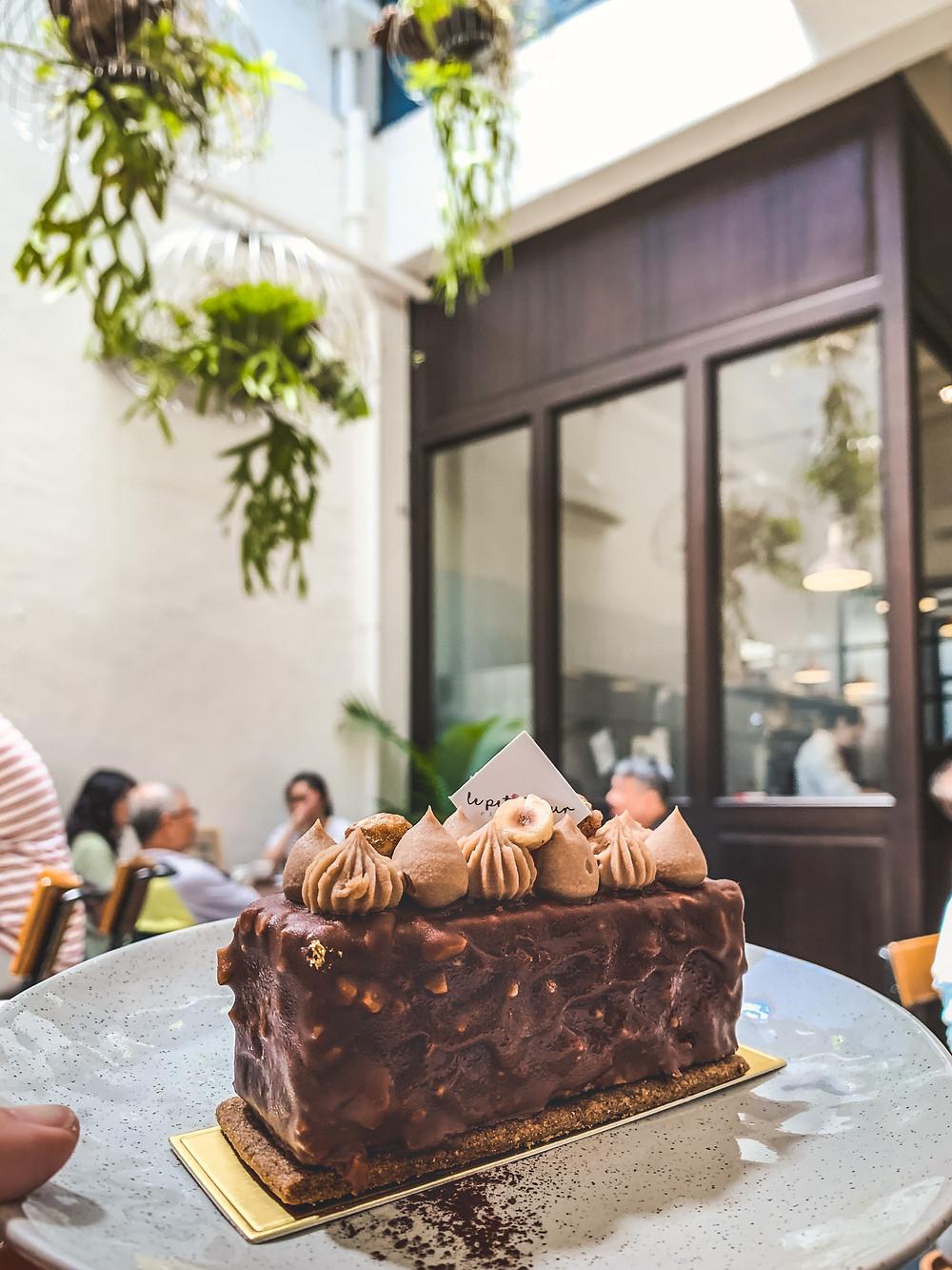 Hazelnut Chocolate French Dessert, Le Petit Four Patisserie, RollingBear Travels