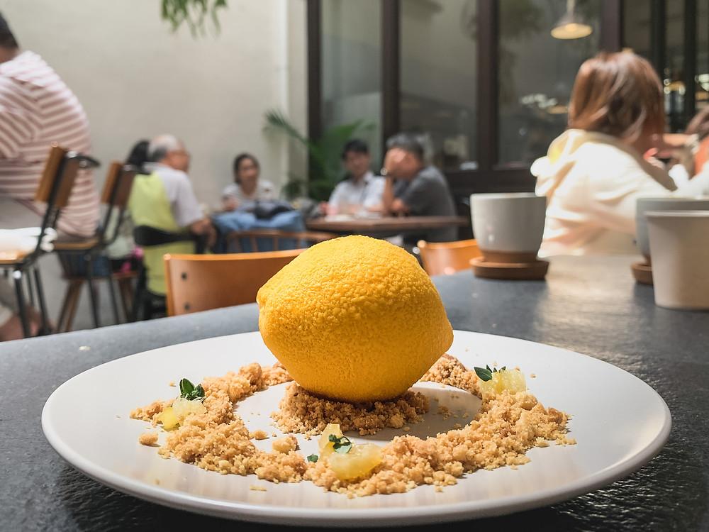 'Lemon' French dessert by Le Petit Four Patisserie, RollingBear Travels blog.
