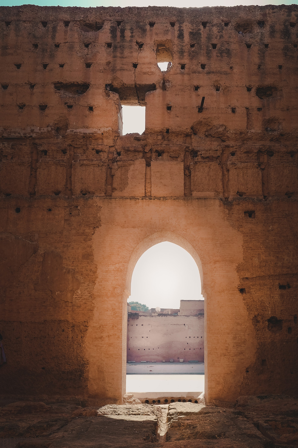 Ruins of a lone doorway of the El-Badii Palace | RollingBear Travels Photography