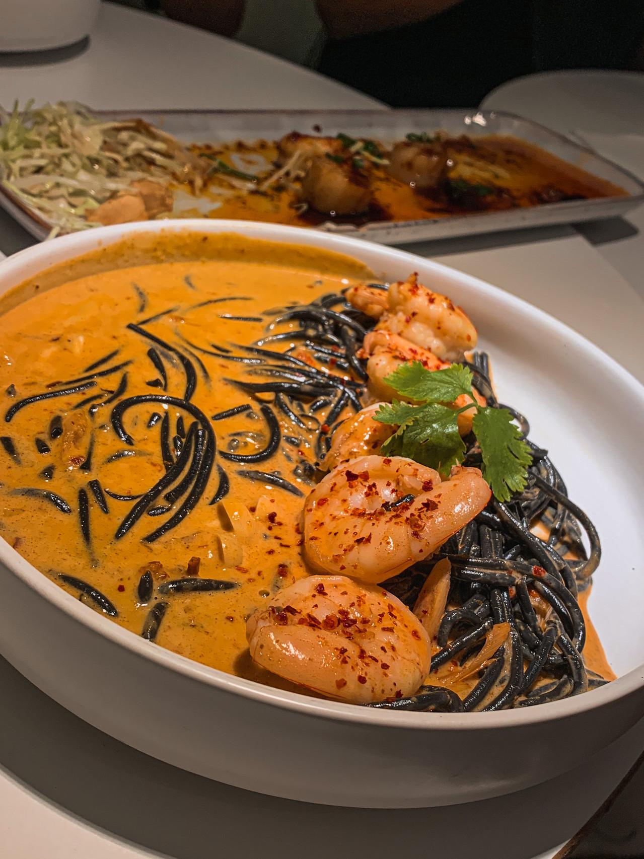 Island Problems food photography: TomYum Goong Pasta | RollingBear Travels.