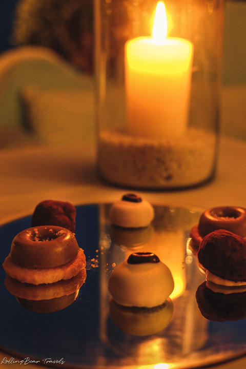 Terrazza Celè Restaurant food photography: A platter of petit four | RollingBear Travels.
