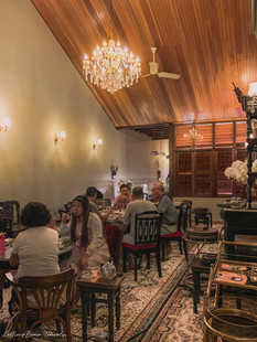 Beautiful heritage Peranakan Chinese-style dining room interiors | RollingBear Travels.
