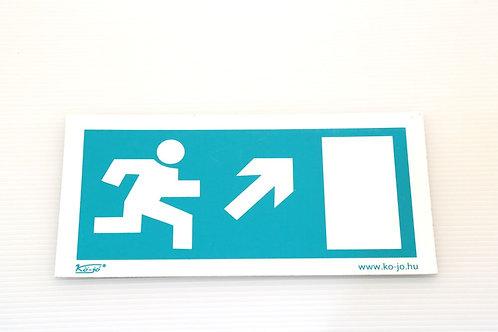 Menekülési út jelző piktogram Jobb felfelé utánvilágÍtós