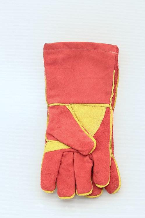 Bélelt Bőr munkakesztyű Piros/Sárga