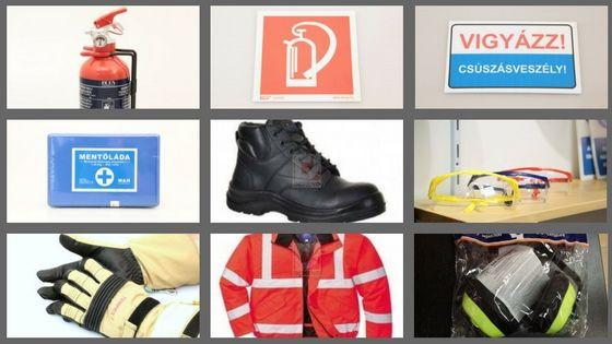 Tűz- és Munkavédelmi eszközök, kiegészítők