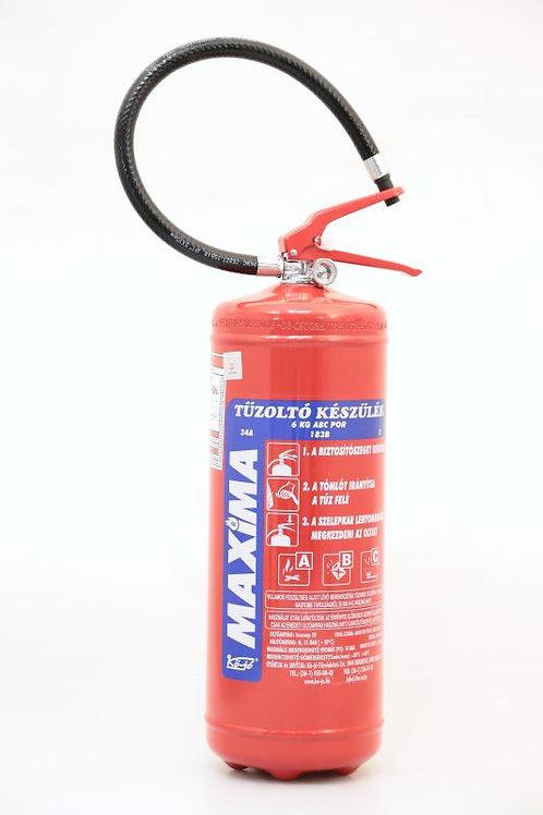Maxima 6kg-os porral oltó tűzoltó készülék