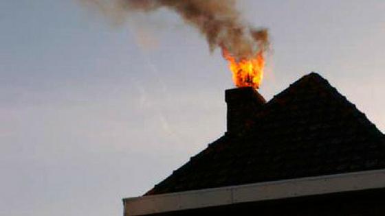 Kialakult kéménytűz (Forrás: www.borhite.be)