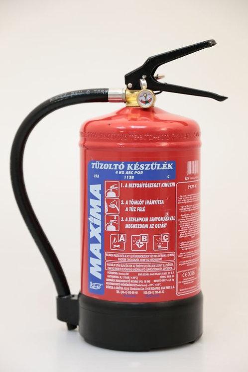 Maxima 4 kg-os porral oltó tűzoltó készülék.