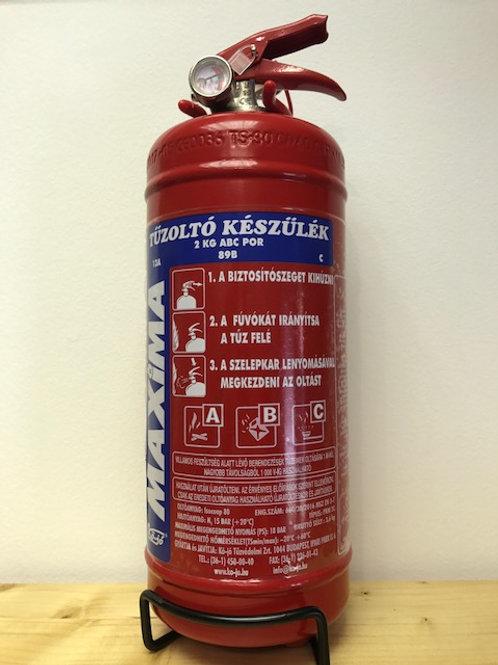 Maxima 2kg porral oltó tűzoltó készülék