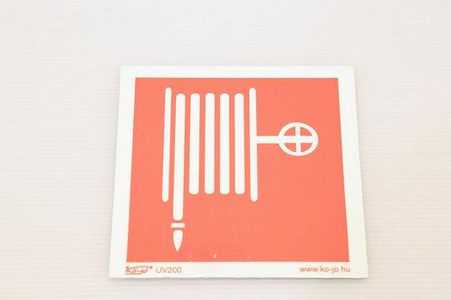 Műanyag tábla  Tűzcsap jelöléssel. 15X15 cm