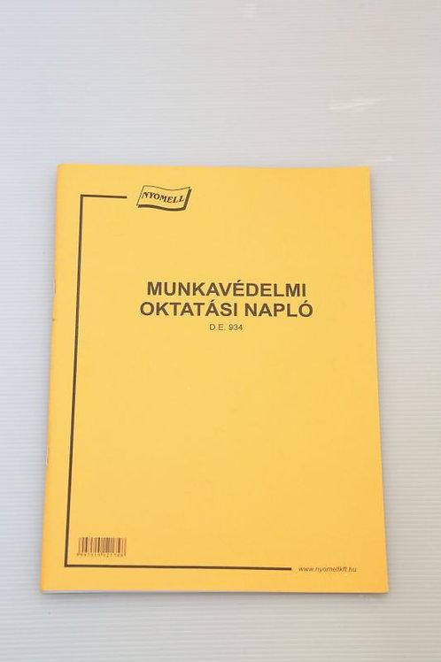 Nyomtatvány Munkavédelmi oktatási napló