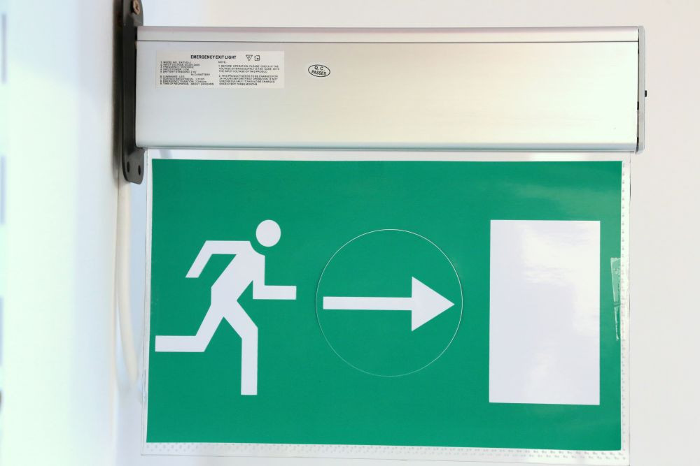 Led lámpa Menekülési útvonalat jelző biztonsági jellel
